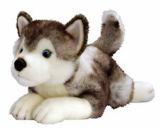 "*NEW* HUSKY ""STORM"" LYING PUPPY DOG SOFT PET PLUSH TOY 50cm/20INCH"