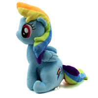 "Rainbow Dash 30cm 12"" Pony Horse Cartoon MLP Stuffed Animal Plush Soft Toy Doll"