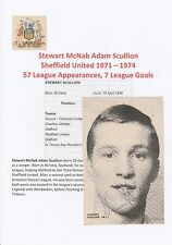Stewart fregona Sheffield United 1971-1974 Corte Revista Original Firmado