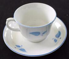 "Vintage 1932-1949 ARABIA Made in Finland SUOMI Blue FLOWER 2 1/8""h Cup & Saucer"