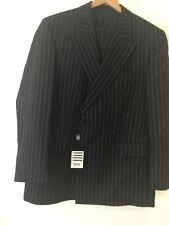 Torre Men's Dark Grey Striped Suit UK XL
