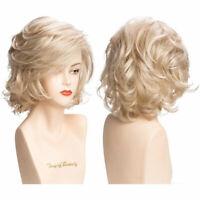 AU Women's Wig Full Wig Light Blonde Straight Short Hair Wigs Hairpieces Design