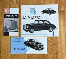 1954 MG MAGNETTE BROCHURE AND LITERATURE LOT (3PCS)