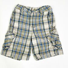 Hanna Andersson Cargo Shorts Boys Size 4 100 Plaid Kids