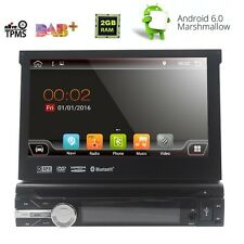 "Single 1 Din 7"" Android 6.0 Gps Flip Car Stereo Radio Player Touch Screen Usb Sd"