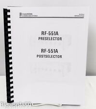 ***SCARCE*** Harris RF-551A Preselector Manual For RF-550 RF-590 Radio Receivers