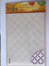 A TASTE OF INDIA A4 EMBOSSING FOLDER - INDIAN LATTICE BY SHEENA DOUGLASS