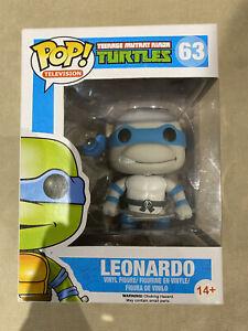 Funko Pop! TMNT Teenage Mutant Ninja Turtles Leonardo 63 Grey Scale **FREE P&P**