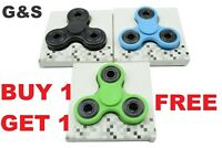 FIDGET SPINNER BUY 1 GET 1 FREE FINGER HAND FOCUS STEEL EDC BEARING STRESS TOY