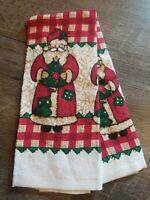 Adorable Vintage Santa Claus Christmas Terry Cloth Kitchen Dish Towel
