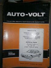 Peugeot 405 1400 - 1600 - 1900 GL GR SR : Revue technique Autovolt 625