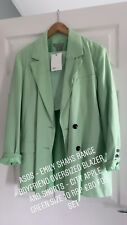 Boyfriend Apple Green Oversized Blazer and Shorts Set: Emily Shak Size 10