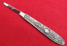 RARE MINTY W CROWN R 1830-37 UNSHARPENED SILVER MOUNTED RODGERS QUILL  KNIFE