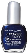6 X MAYBELLINE EXPRESS FINISH NAIL COLOR POLISH ❤ 898 DENIM DASH ❤ GLOSSI BLUE