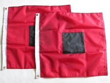 "Set of -2- 18""x18"" Inch Hurricane Warning Flags Highest Quality Completely Sewn"