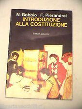 INTRODUZIONE ALLA COSTITUZIONE Norberto Bobbio Franco Pierandrei Laterza 1982 di