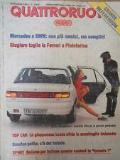 Quattroruote 456 1993 Kia Sephia:menù ricco a poco prezzo.Top car:Lexus.
