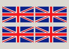 "4 Union Jack England Flag decals GB stickers 8"" x 4"""