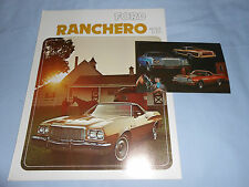 1975 FORD RANCHERO PICKUP TRUCK BROCHURE / CATALOG + ORIG. 75 POSTCARD 2 for 1