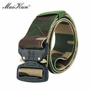 Men Luxury Military Tactical Waistband Male Jeans Pants Fashion Casual Belts