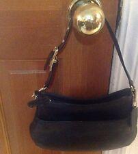 COACH G23-9295 Mini BlackLeather Hobo Bag Purse Legacy