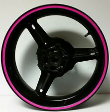 HOT or SOFT PINK REFLECTIVE RIM STRIPES WHEEL DECALS TAPE STICKERS TRIM 16 17 18