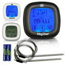 Barbecue Digital Meat Thermometer & Timer w/ 2 Stainless Steel Probes