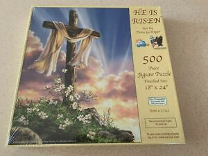 NEW Suns Out Dona Gelsinger He Is Risen 500 pc Jigsaw Puzzle Cross