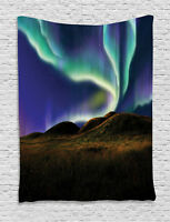 Alaska Tapestry Meadows in the Night Print Wall Hanging Decor