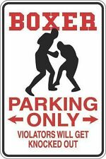 """*Aluminum* Boxer Parking Only 8""""x12"""" Metal Novelty Sign  S259"""