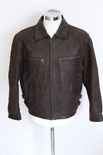 DG FURS GLENN MILLER'S AAF BAND leather jacket giubbotto pelle giubbino M E1790