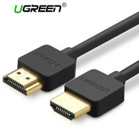 Ugreen Slim HDMI 2.0 to HDMI Cable 4K 3D for Apple TV PS3 PS4 Projector HD LCD