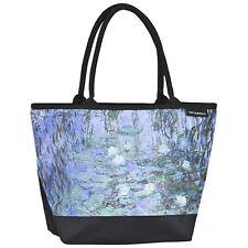 Tasche Umhängen Kunst Damen Bag Shopper bunt  blau Claude Monet: Seerosen 4181