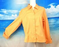 FORENZA Womans PEACH Blouse FITTED Shirt Button Down STRETCH Top size XL 1x