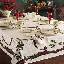 "Lenox HOLIDAY NOUVEAU Holiday 60"" x 120""  Oblong Tablecloth NIP NEW FREE SHIP"