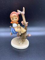 """Vintage Goebel Hummel 4"""" Figurine #141 3/0 APPLE TREE GIRL - TMK-3"""