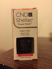 CND Creative Nail Shellac Gel Polish - Black Pool Color .25oz/7.3ml New