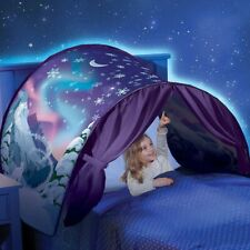 NEW Kids Dream Bed Tents Foldable Stars moon LED Light Fantasy Night Sleeping