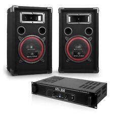 Top! Set Dj Amplificatore Montaggio Rack Coppia Casse Passive Woofer 20Cm 2X500W