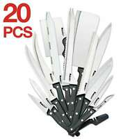 Ronco 20 Piece Knife Set, Full-Tang Handle, Professional Kitchen Knife Set