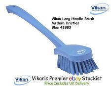 Vikan long manche brosse de lavage Moyen Poils Bain Douche Gommage étages bleu