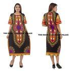 dashiki Hippie Boho Maxi Gown Beach Cover Plus size Women's Caftan Dress Kaftan