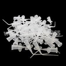 Pre-bent 50pcs Dental Disposable Plastic Needle syringe Pure Color HOT