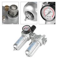 """1/2"""" Druckluft Kompressor Filter Wartungseinheit Öl-Wasserabscheider mit Gauge"""