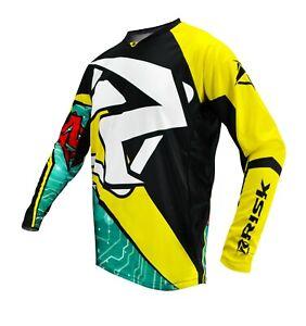 Risk Racing Ventilé Jersey Motocross Toutes Tailles Numérique Enduro Vtt BMX