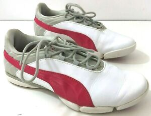 PUMA Womens 7.5M Golf Shoes Spikeless White Red
