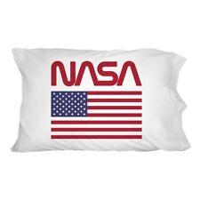 NASA Official Worm Logo United States USA Flag Novelty Bedding Pillowcase