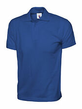 Uc122 Uneek Plain Unisex Cotton Work Casual Leisure Jersey Polo Shirt Top Royal XL