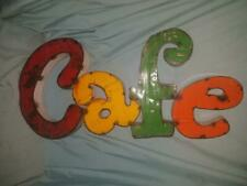 Vintage Antique Sheet Metal Cafe Sign Hand Made Folk Art Early/Mid 20th Century