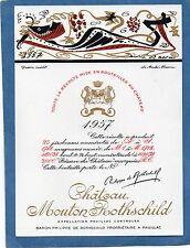 PAUILLAC 1EGCC ETIQUETTE CHATEAU MOUTON ROTHSCHILD 1957 75 CL DECOREE §01/04/18§